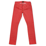 Women's Super Slim 13.5 oz Japanese Gold Selvage Red Denim by Civilianaire