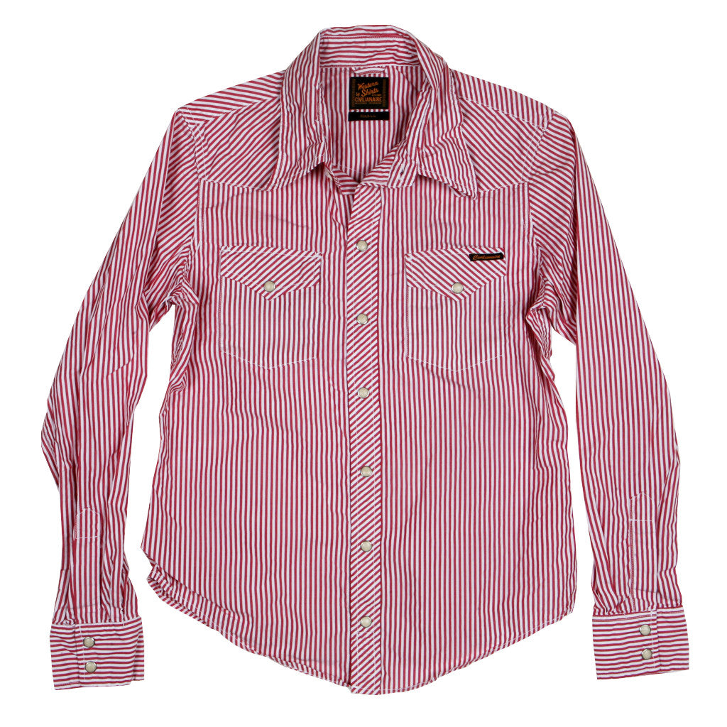 Women's Danbury Red Stripe Western Shirt by Civilianaire