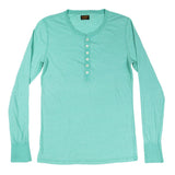 Women's Long Sleeve Tri-Blend Banded Henley