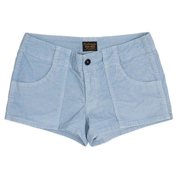 Lightweight Cotton Corduroy 3-Pocket Mili Short - Skyra Blue