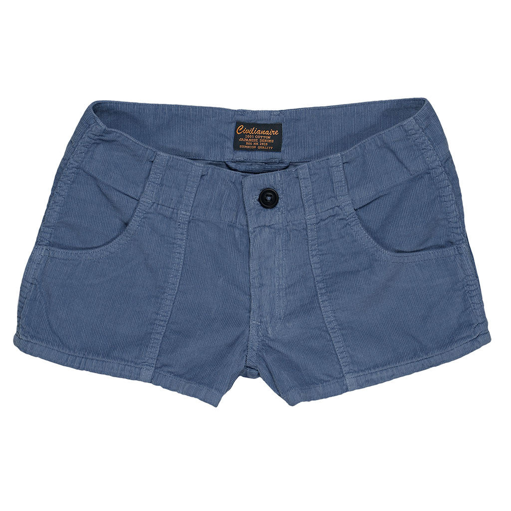 Lightweight Cotton Corduroy 3-Pocket Mili Short - Blue 4448