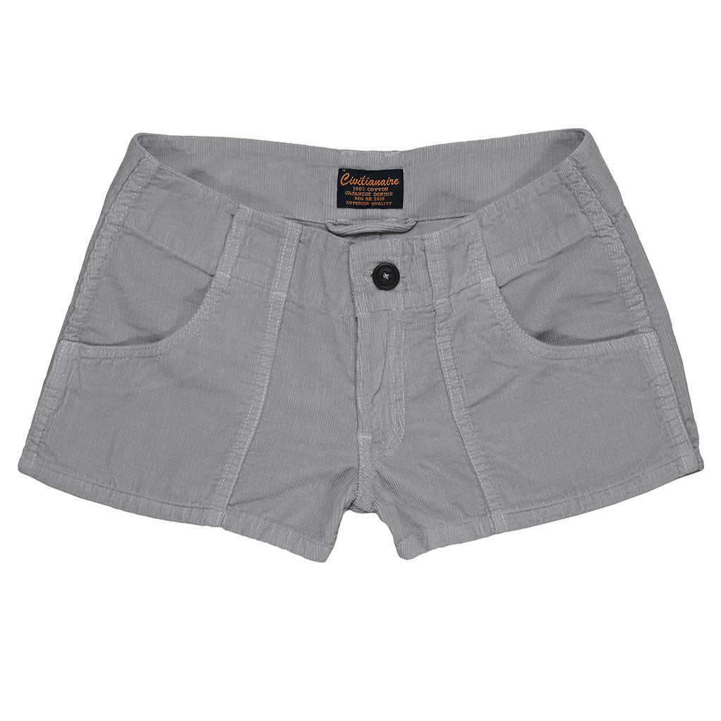 Lightweight Cotton Corduroy 3-Pocket Mili Short - Grey 9051