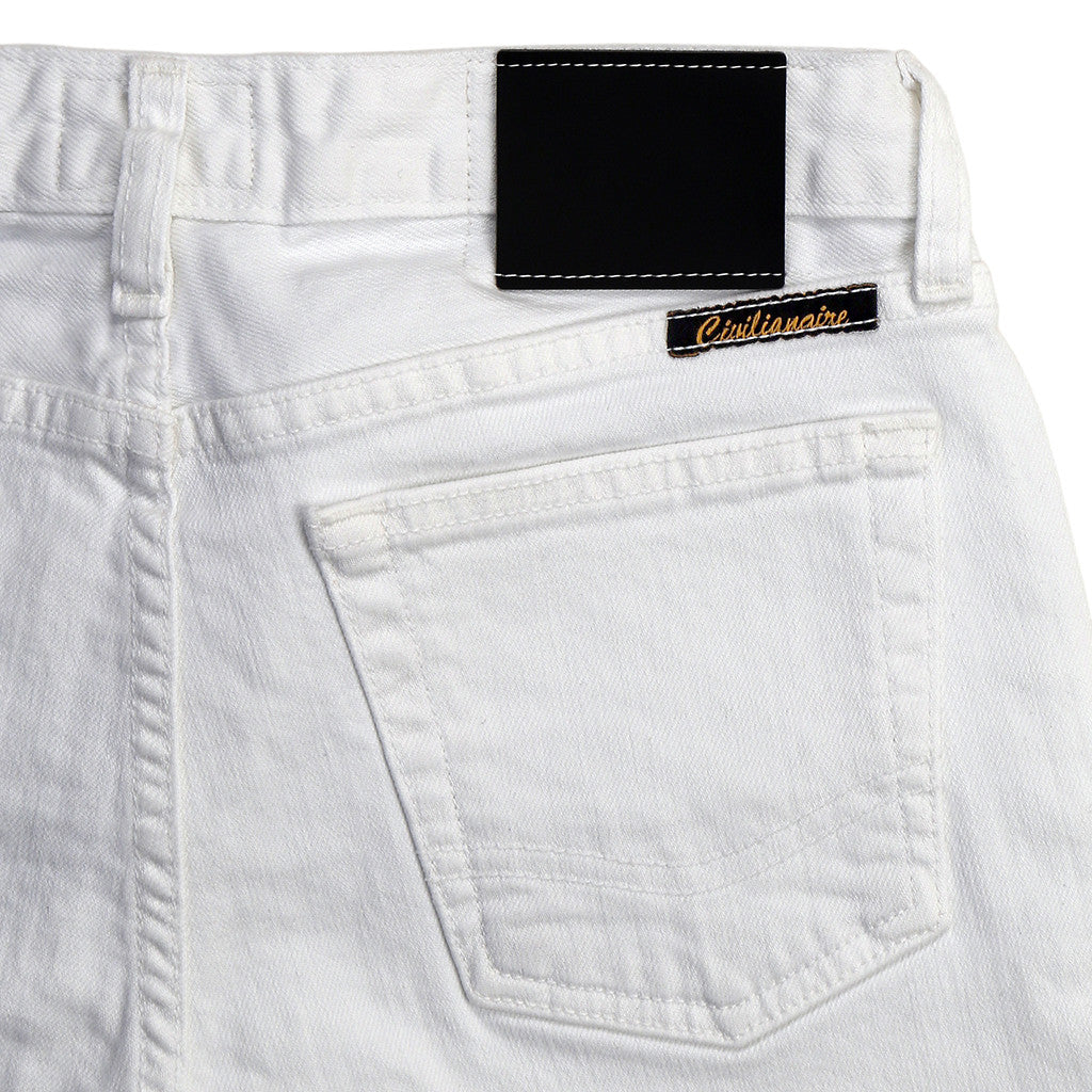 Women's 13.5 oz. Stretch Twill 5-Pocket Super Slim Crop Jean - White