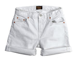 Women's 13.5 oz. Stretch Twill 5-Pocket Boyfriend Short - White