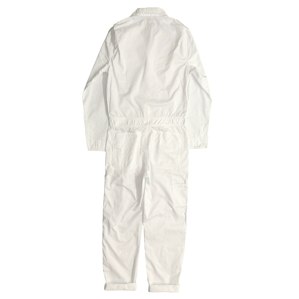 5.5 oz Cotton/Sateen Jumpsuit - White