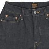 Women's 11 oz Gold Selvage Denim Super Slim High Waist Stretch Jean - Indigo Rigid