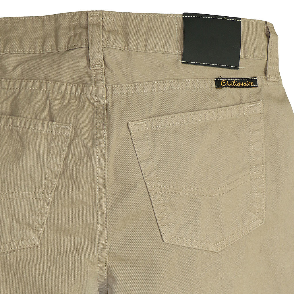 5-Pocket TOMBOY button Fly Twill Pants - FAWN