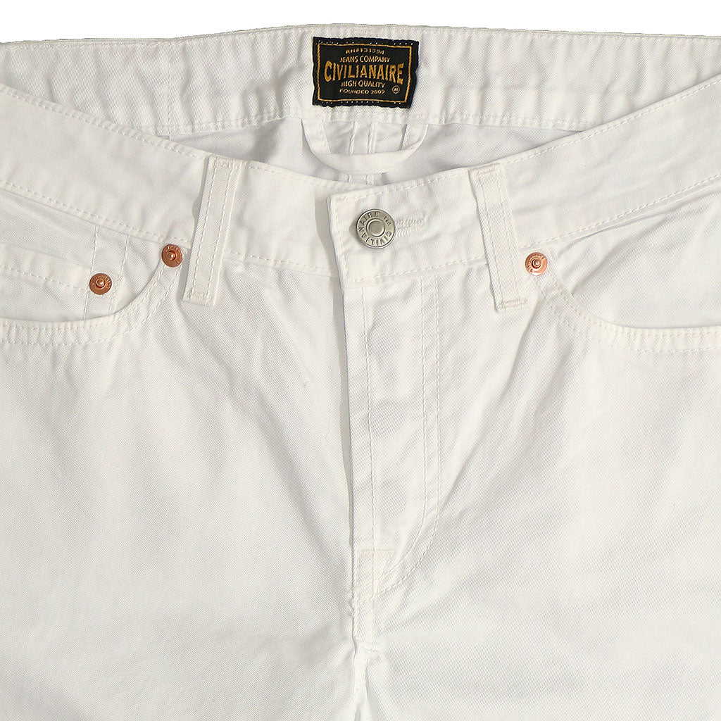 5-Pocket TOMBOY button Fly Twill Pants - White