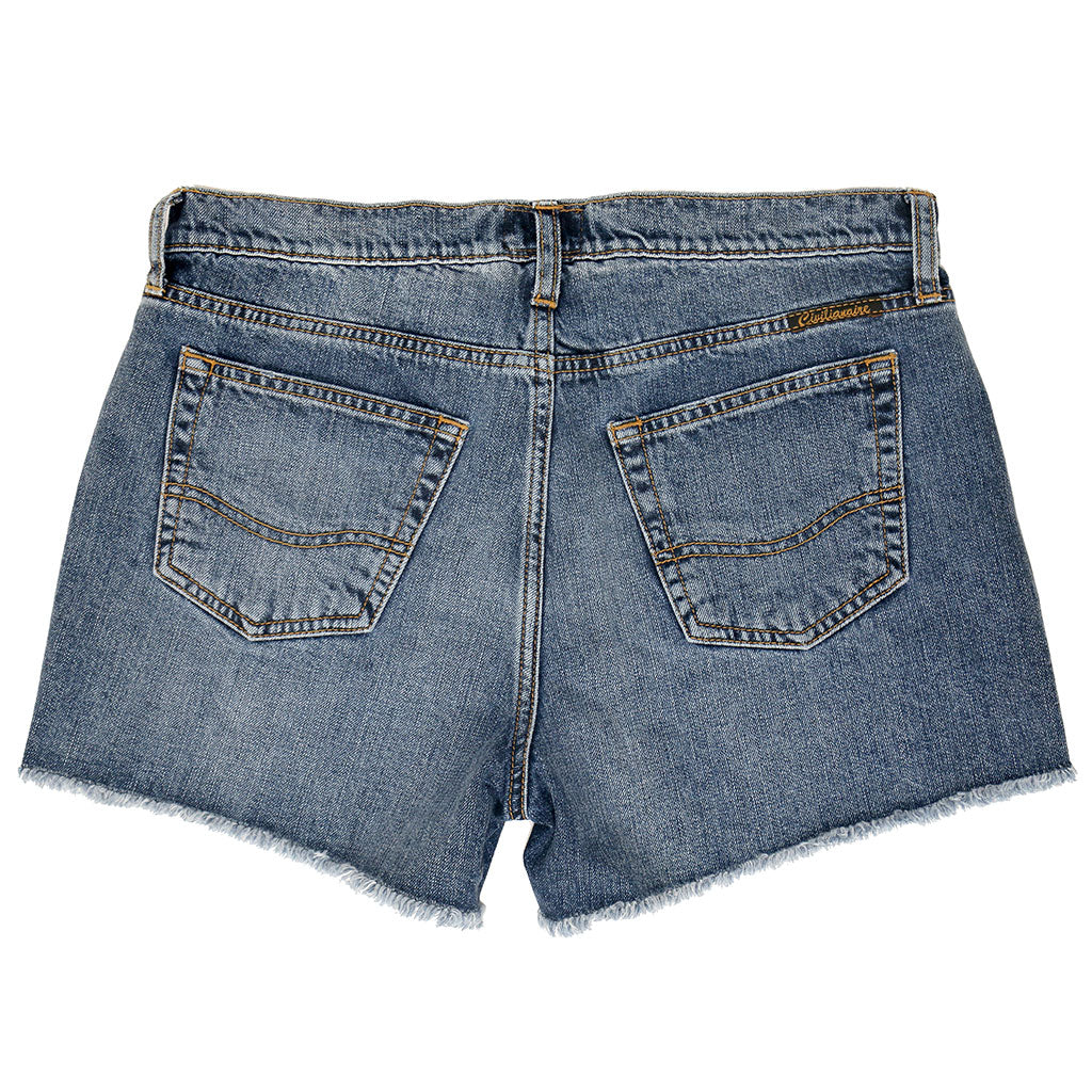 12.4 oz Denim Shorty Shorts - Malibu Wash