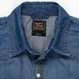 Long Sleeve Western Shirt 4 oz. Denim - Dark Vintage Wash