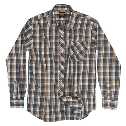 Women's Long Sleeve 1 Pocket Boyfriend Stratford Plaid Shirt - Brown