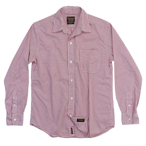 Women's Long Sleeve 1 Pocket Boyfriend Hamden Check Shirt - Red