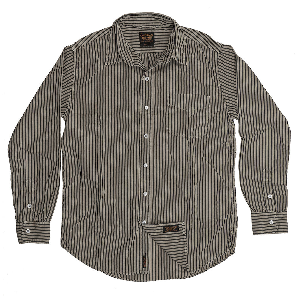 Long Sleeve 1 Pocket Boyfriend Kensington Stripe Shirt - New Chino