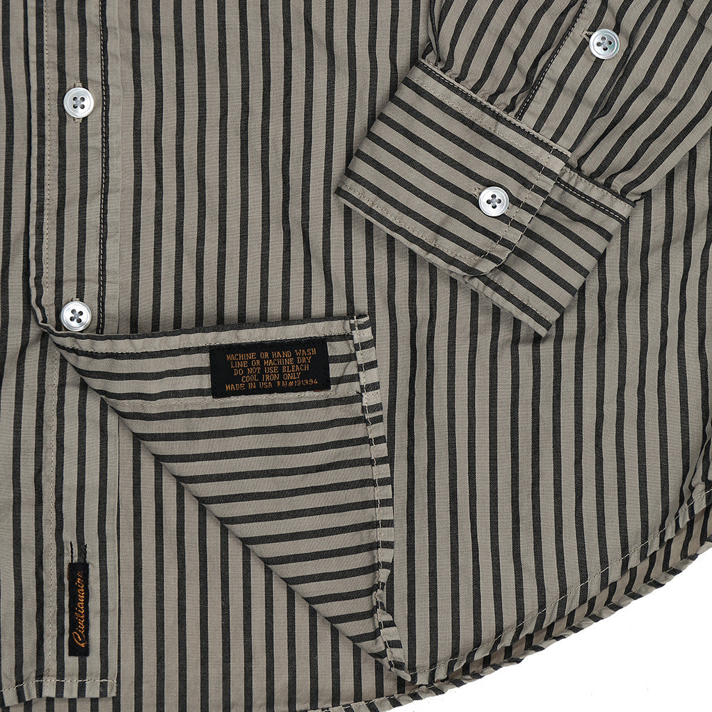 Women's Long Sleeve 1 Pocket Boyfriend Kensington Stripe Shirt - New Chino