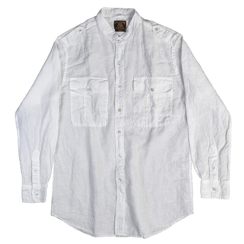 Women's Long Sleeve Easy Linen Shirt - White