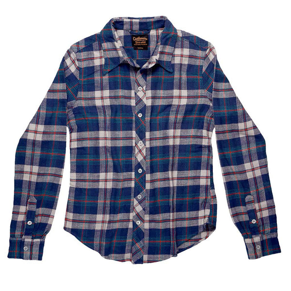 Long Sleeve Shirt Providence Plaid Flannel - Navy