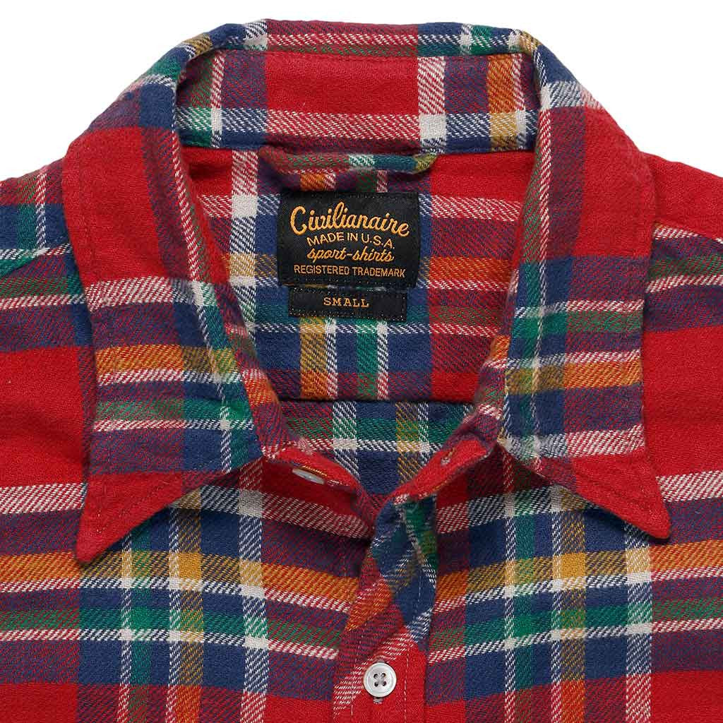 Long Sleeve Shirt Providence Plaid Flannel - Red