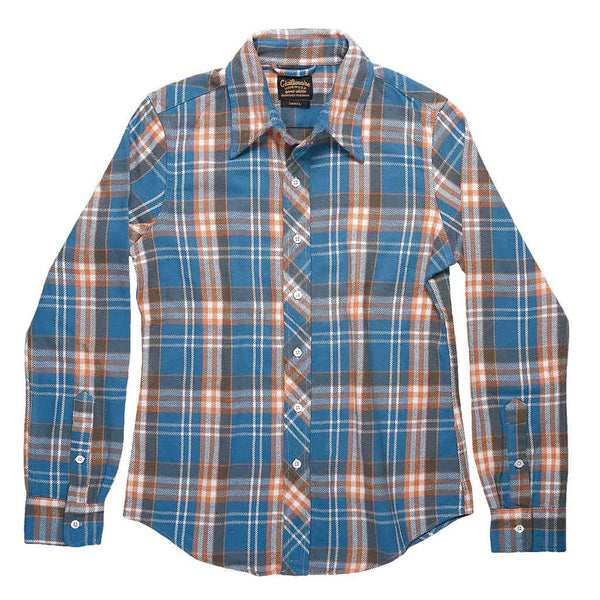 Long Sleeve Shirt Naugatuck Japanese Heavyweight Flannel Plaid - Orange