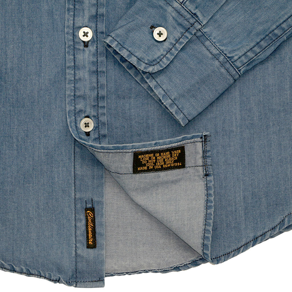 Single Pocket Shirt 4 oz. Denim - Med Wash