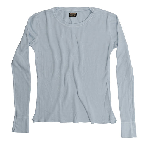Women's Long Sleeve Crew Neck Thermal Tee - Skyra Blue