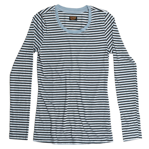 LS Multi-Stripe Crew Neck Tee