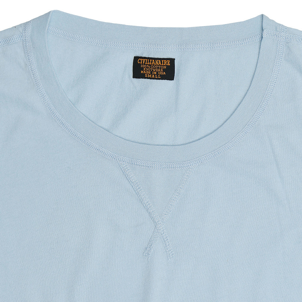 Banded SS Crew Neck Tee - Bright Blue