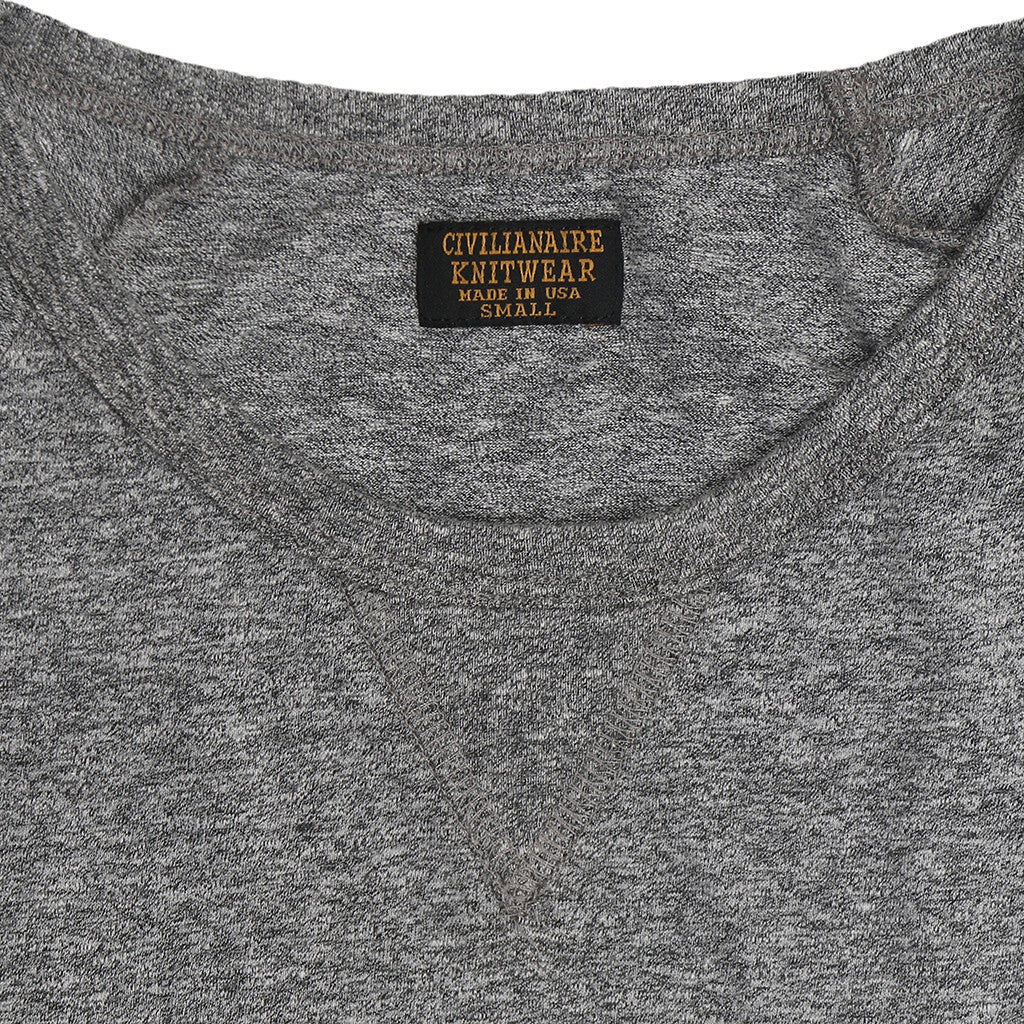 Women's Long Sleeve Raglan Crew Neck Tri-Blend Tee - Heather Grey