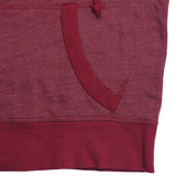 Women's Sleeveless Half-Zip Tri-Blend Hooded Sweatshirt - Red Rock