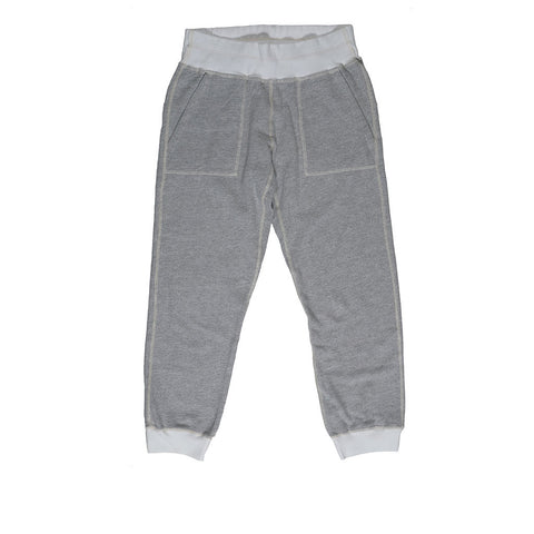 Drawstring Waist Slant Pocket Fleece Cropped Jogger - Heather