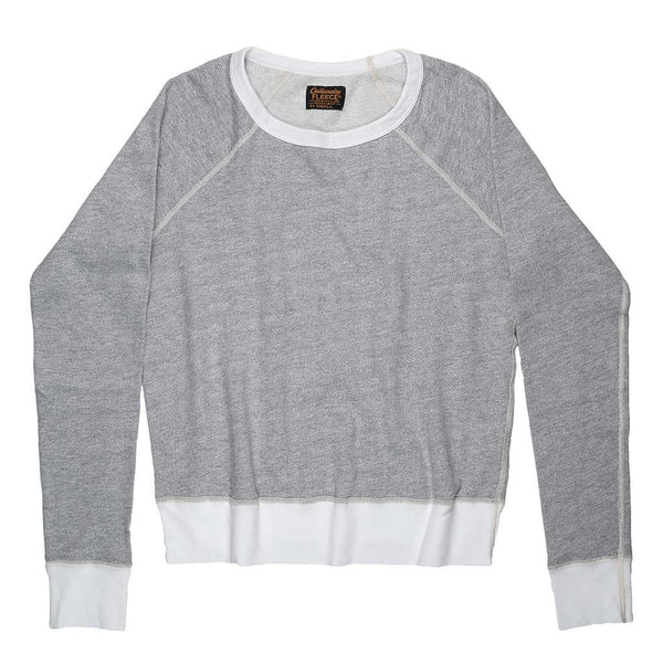 Long Sleeve Raglan Sleeve Crewneck Fleece Sweatshirt - Heather