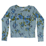 Women's Long Sleeve Raglan Crew Neck Supima Cotton Fleece Sweatshirt - Blue Rose Chambray