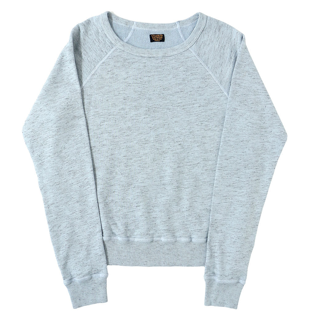 Long Sleeve Streaky French Terry Crew Neck Raglan Sweatshirt - Skyra Blue