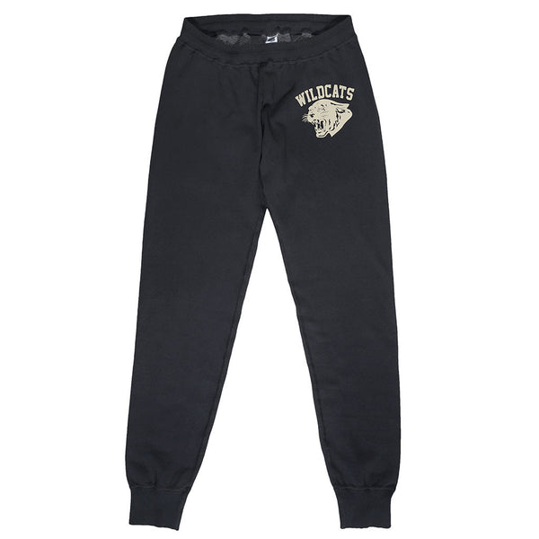 """Wild Cats"" Drawstring Elastic Waist Fleece Sweatpants - Sharp"