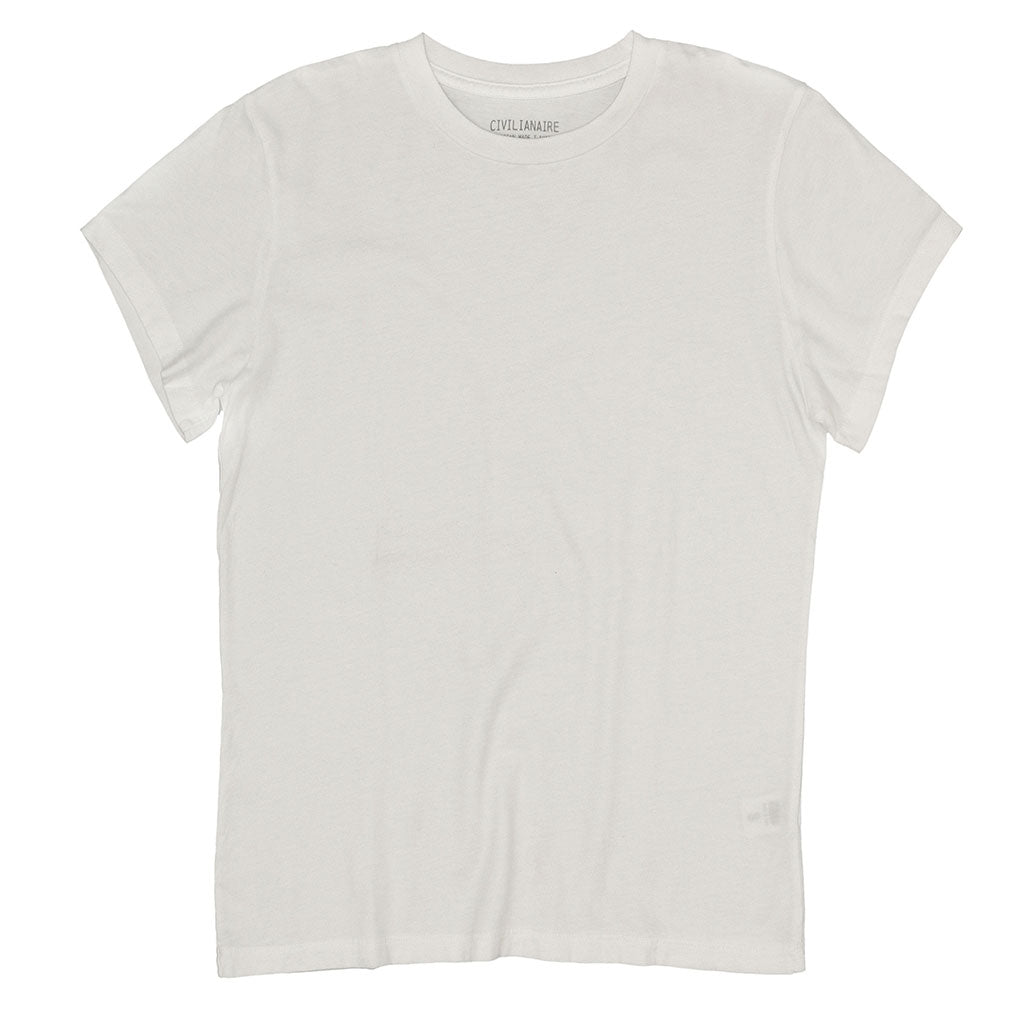 Women's Crew Neck Short Sleeve Tee - White