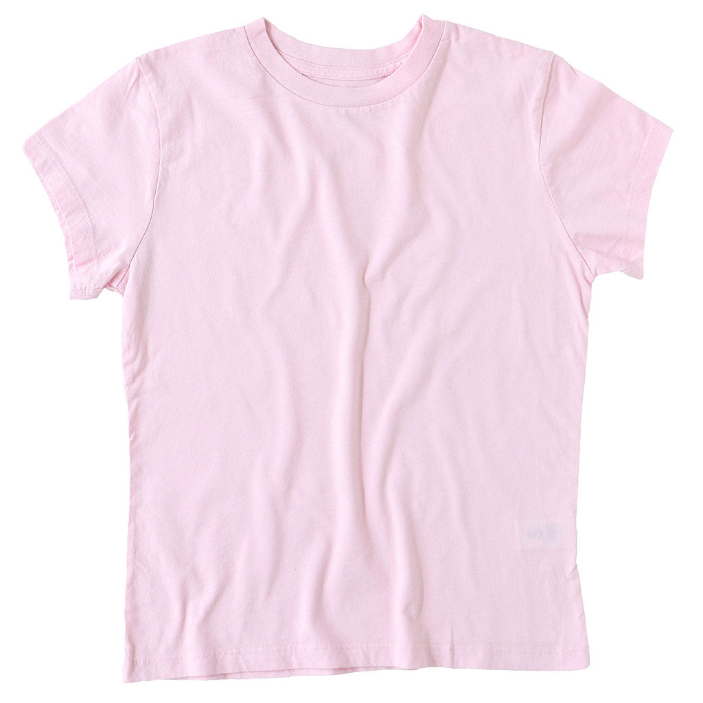 Women's Crew Neck Short Sleeve Tee - Pink Clover
