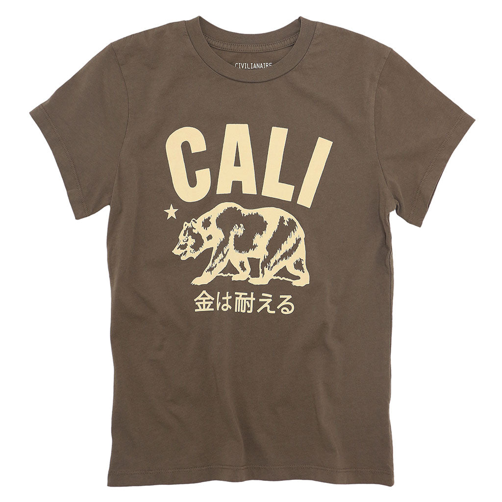 Don't Mess With Cali  Women's Crew Neck Short Sleeve Tee - Grain
