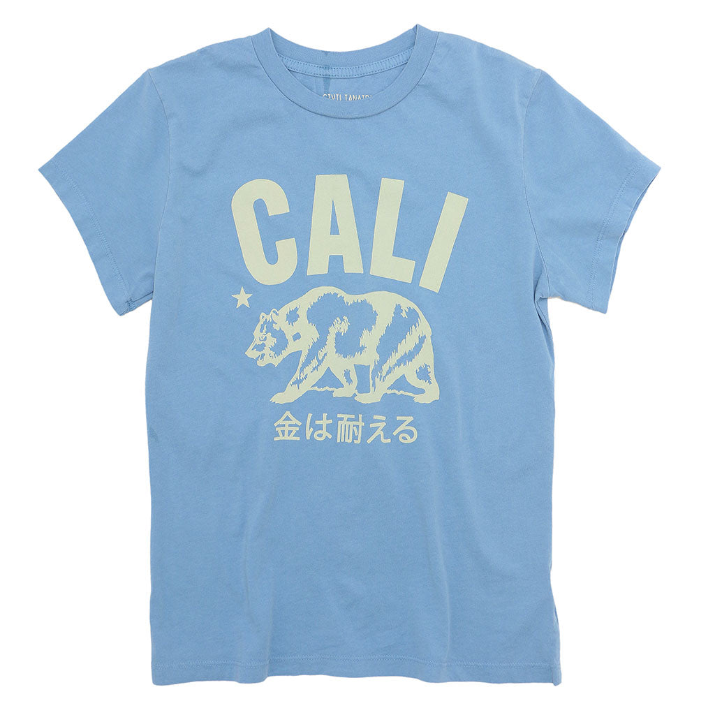 Don't Mess With Cali  Women's Crew Neck Short Sleeve Tee - Simple Blue