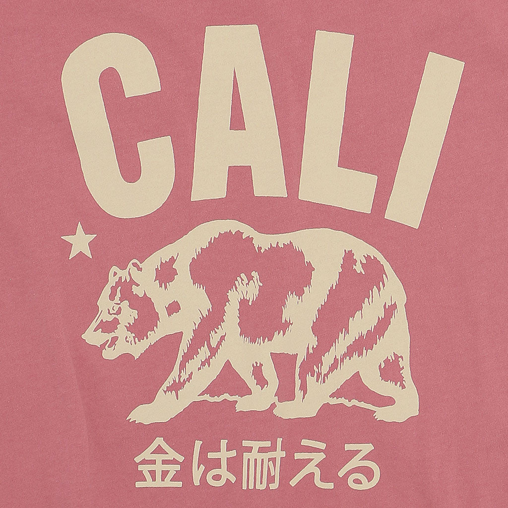 """Don't Mess With Cali"" Women's Crew Neck Short Sleeve Tee - Flamingo"