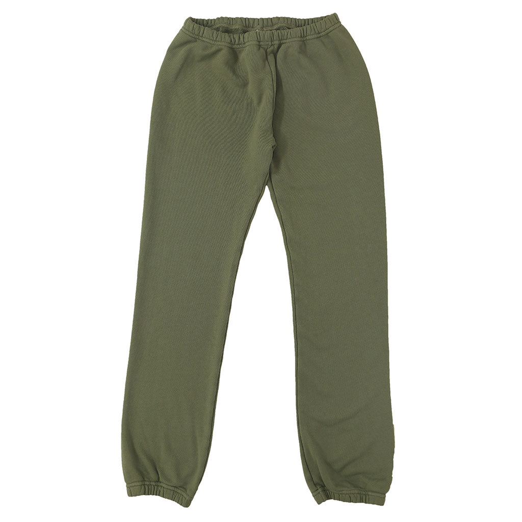 Drawstring Elastic Waist Fleece Womens Sweatpants - Soft Olive #3132