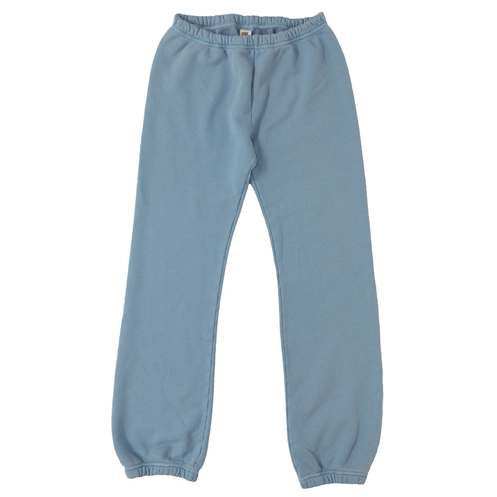 Drawstring Elastic Waist Fleece Womens Sweatpants - Simple Blue #4313
