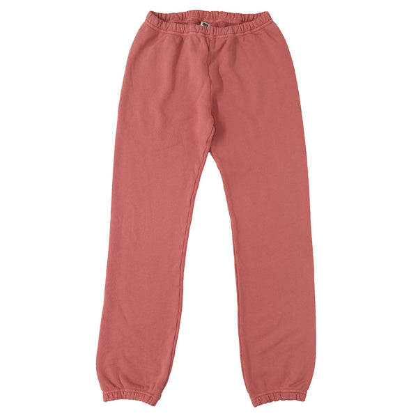 Drawstring Elastic Waist Fleece Womens Sweatpants - Flamingo #6168