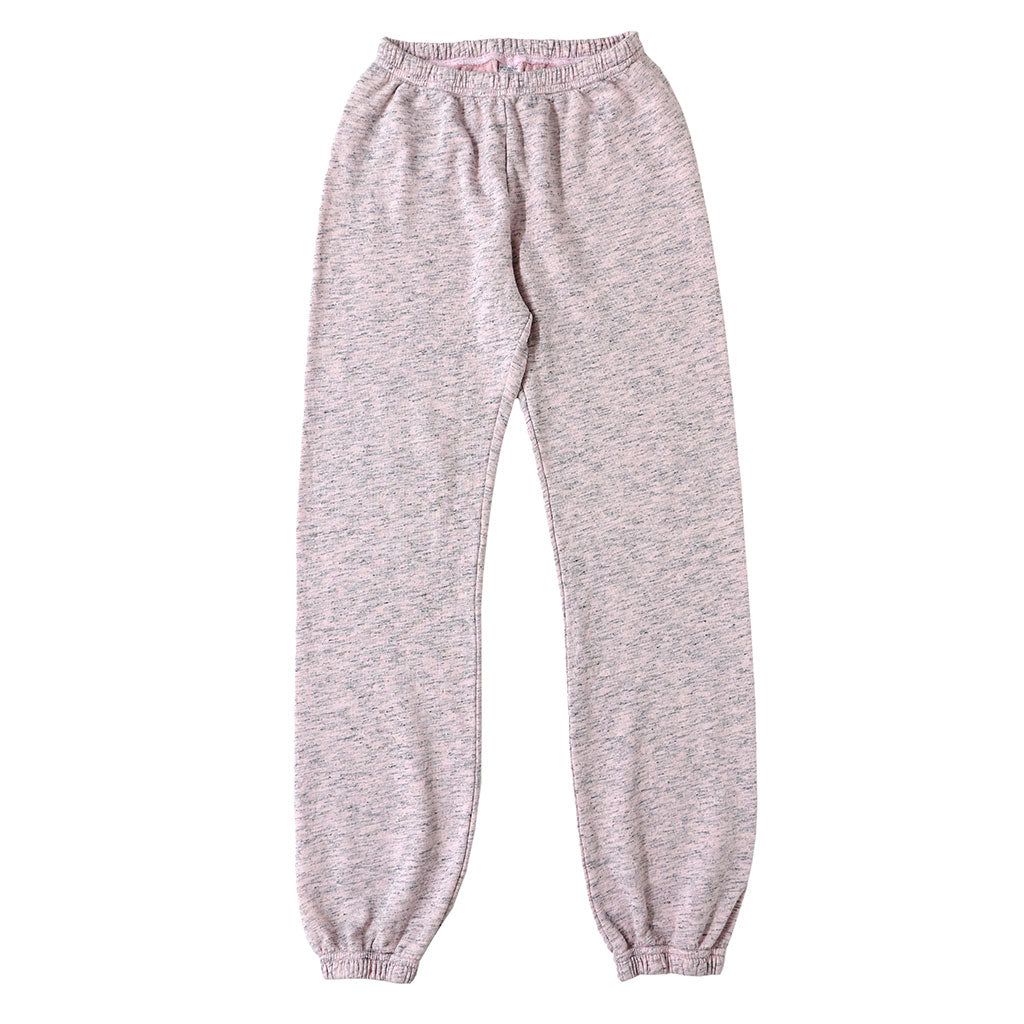 "Streaky French Terry ""Peace"" Sweatpants - Pink Clover"