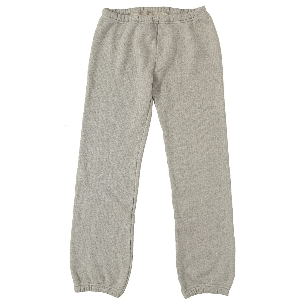 Drawstring Elastic Waist Fleece Womens Sweatpants - Heather Grey
