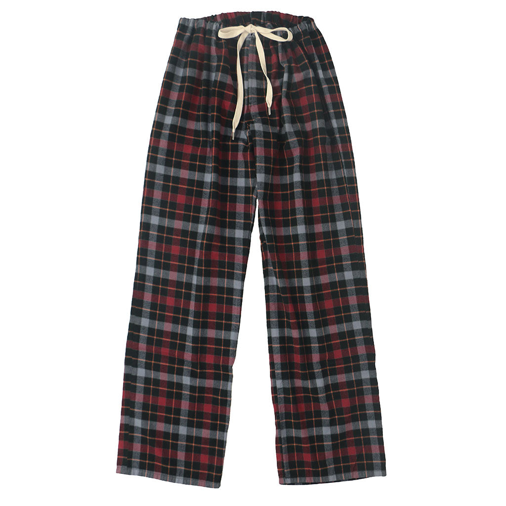 Pajama Lightweight Flannel Plaid - Burgundy