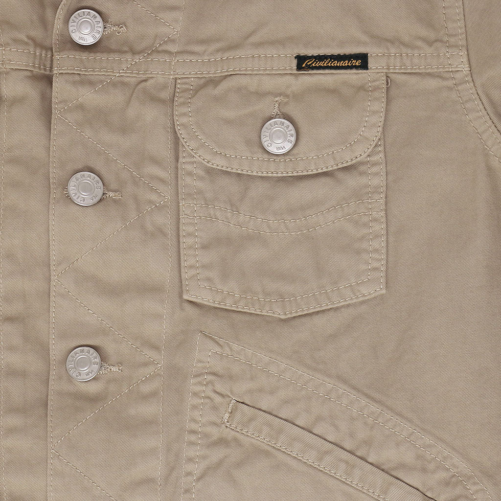 5 Pocket Rincon Twill  SB Ranch Jacket - FAWN