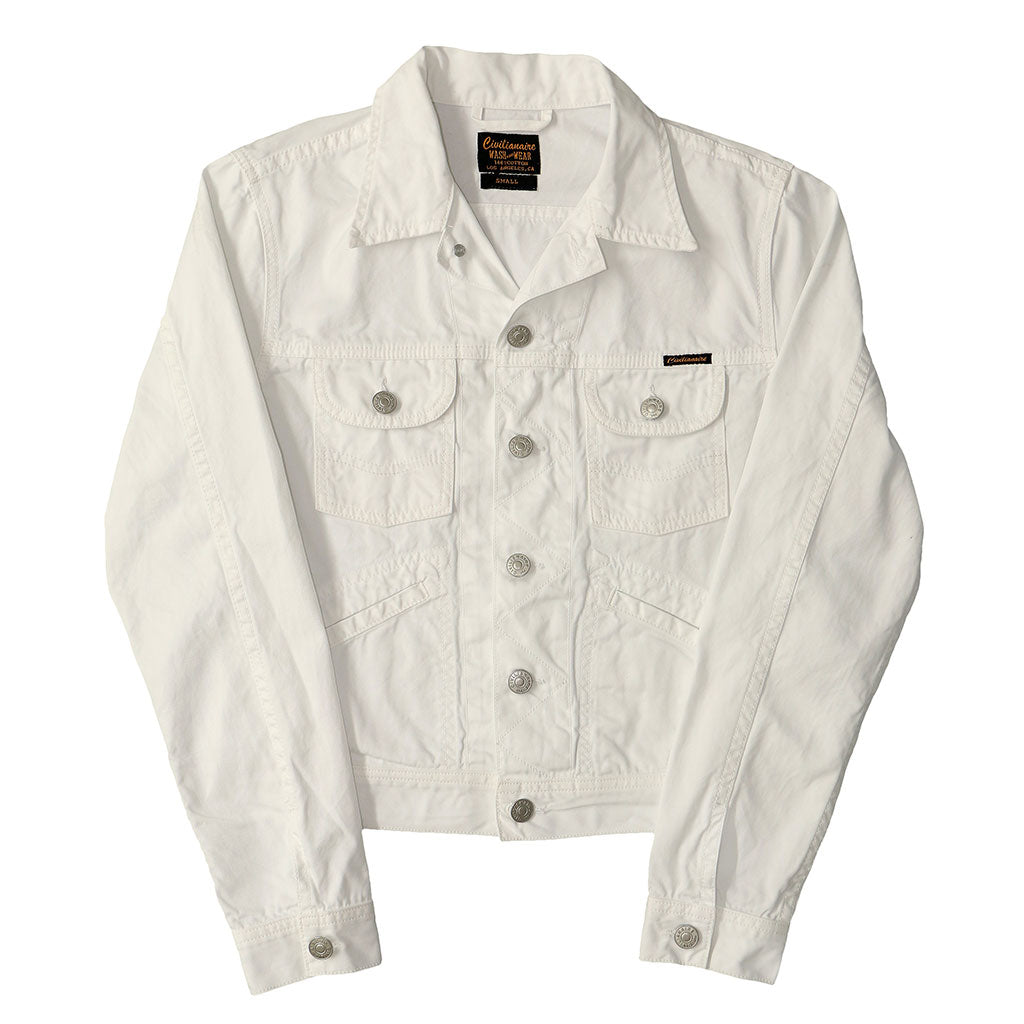 5 Pocket Rincon Twill  SB Ranch Jacket - WHITE