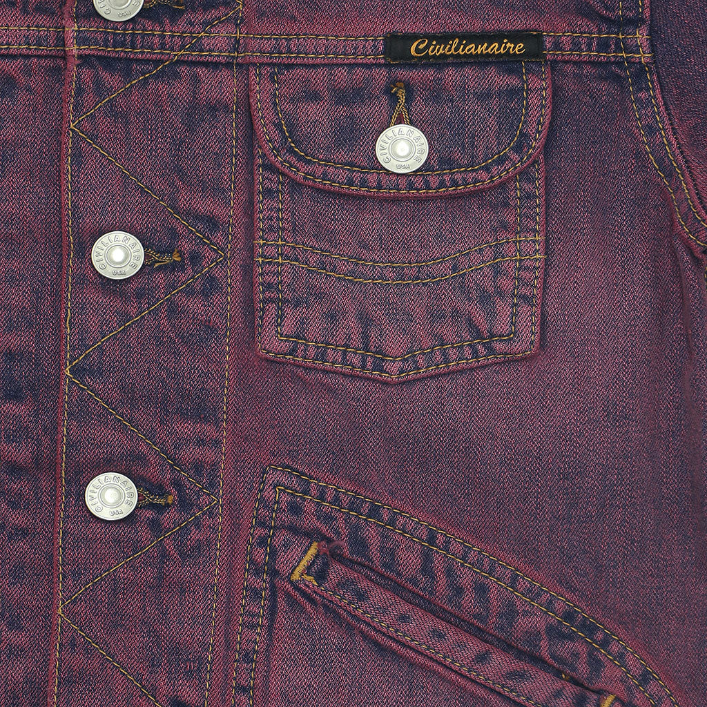 5 Pocket 12.4 oz Denim Ranch Jacket - Pink Memphis Wash