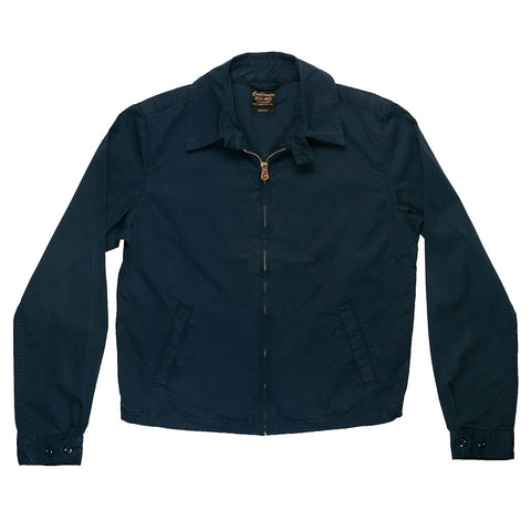 Zip Front Cotton Sateen Cliff Jacket - EZ Dark Navy