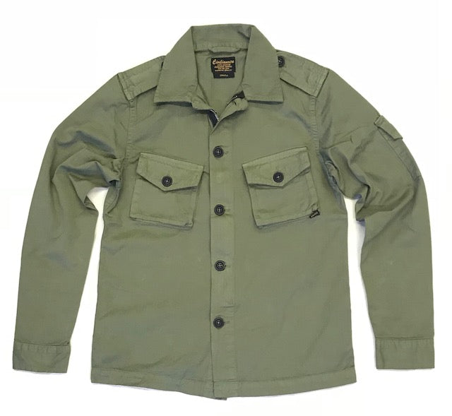 3 Pocket Herringbone Cotton Officer Jacket - Army Olive#3008