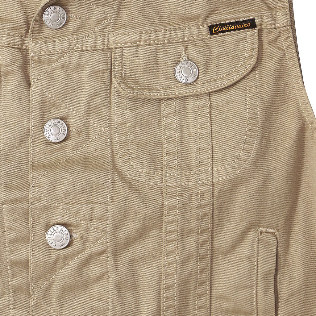 5 Pocket Twill Rider Vest - Fawn